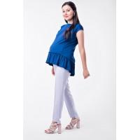Блуза с рюшей для беременных и кормящих Lullababe Marmaris Электрик