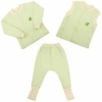 Детская одежда ЕКО ПУПС™ коллекция Jersey Style, комплект 3в1 (брюки, кофта, жилет), р.92