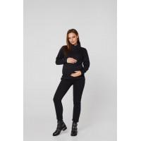 Весенний спортивный костюм для беременных Lullababе Vancouver Чёрный S