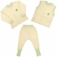 Детская одежда ЕКО ПУПС™ коллекция Jersey Style, комплект 3в1 (брюки, кофта, жилет), р.104