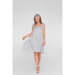 Летнее шёлковое платье для беременных и кормящих Lullababe Maldives Горошек S