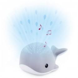 ZAZU Wally КИТ Проектор капель воды с успокаивающими мелодиями цвет серый