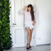 Блуза для кормления  - Розовая