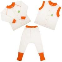 Детская одежда ЕКО ПУПС™ коллекция Jersey Style, комплект 3в1 (брюки, кофта, жилет), р.98