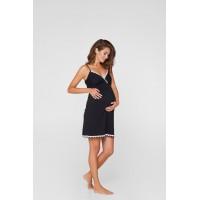 Ночная рубашка для беременных и кормящих мам Lullababe Sidney Черный S