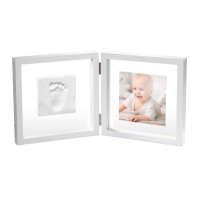 Baby Art Двойная рамочка Прозрачная с отпечатком