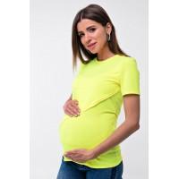 Футболка для беременных и кормящих Lullababe Valencia Лимонный