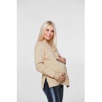 Худи с разрезами для кормящих и беременных Lullababe Ottawa Бежевый S