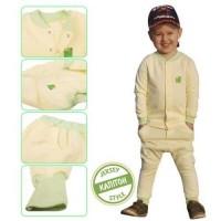 Детская одежда ЕКО ПУПС™ коллекция Jersey Style, комплект 3в1 (брюки, кофта, жилет), р.80