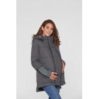 Слингокуртка и Куртка для беременных 3в1 (еврозима) Lullababe Nurmes Темно-серый