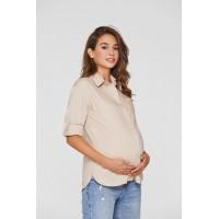 Рубашка для беременных Lullababe Cannes Бежевый S