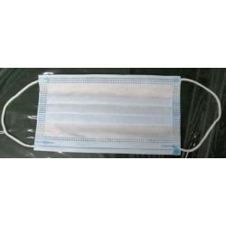 Маска одноразовая защитная трехслойная 17.5 x 9.5 см (Китай)
