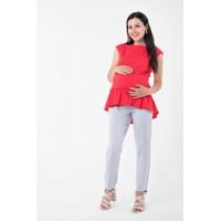 Блуза с рюшей для беременных и кормящих Lullababe Marmaris Коралловый