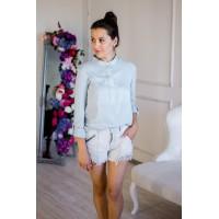Блуза для кормления  - Голубая