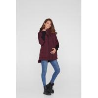 Слингокуртка и Куртка для беременных 3в1 (еврозима) Lullababe Nurmes Сливовый