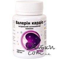 Валерин кардио табл. 500 мг № 60 Витера, Украина